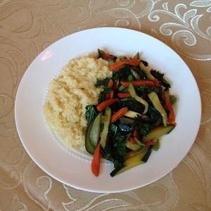 Millet Carrots Zucchini Kale