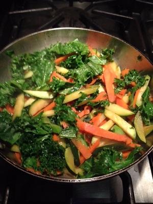 Carrots Zucchini Kale