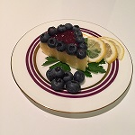 Polenta cake with blueberries