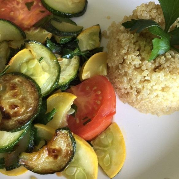 quinoa sauteed veggies