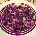 red cabbage pressed salad